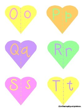 Literacy & Math Conversation Heart Centers for Valentine's Day