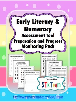 Early Literacy & Numeracy Fluency Assessment Prep. and Pro