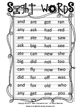 Early Literacy Sight Words [3 pc Puzzles]