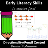 Directionality and Pencil Control Task Cards - Practice an