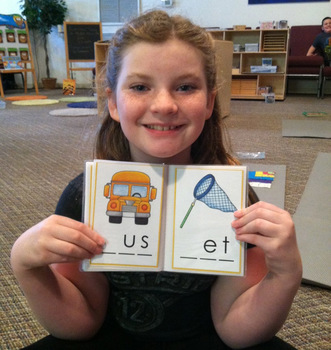 Early Literacy Tools: CVC Words - Missing Letters (Photo Printing)