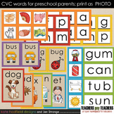 Early Literacy Tools: CVC Words for Preschool Parents. Pri