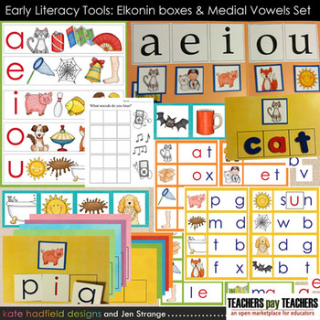 Early Literacy Tools: Elkonin boxes and Medial Vowel Set (