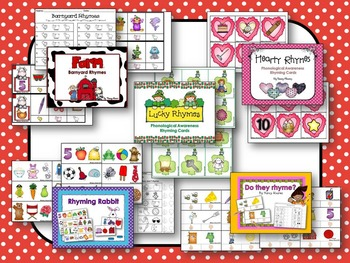 Early Literacy Unit 1: Rhyming {15 Rhyming Activities for the whole year}