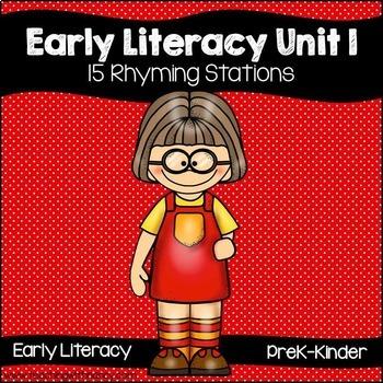 Early Literacy Unit 1 Rhyming & Unit 2 Alliteration Bundle