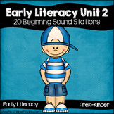 Early Literacy Unit 2: Alliteration {20 Beginning Sound Activities}