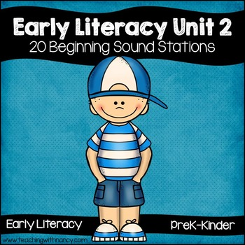 Early Literacy Unit 2: Alliteration {20 Beginning Sound Activities}