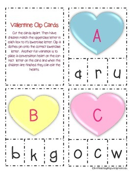 Early Literacy Valentine FREEBIE