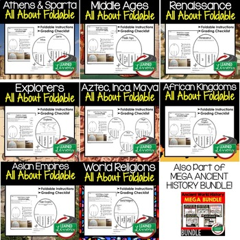 Early Man Activity, All About Foldable (Interactive Notebook)