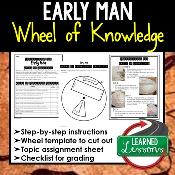 Early Man Activity, Wheel of Knowledge (Interactive Notebook)