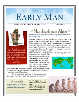 Early Man Develops in Africa by Don Nelson