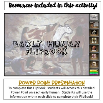 Early Man Flipbook Activity {Digital AND Paper}