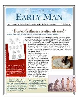 Early Man: Hunter Gatherer Societies Develop by Don Nelson