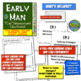 """Early Man """"I Can"""" Statements & Learning Goals! Measure Early Man Goals!"""