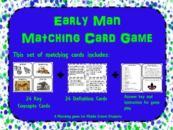Early Man Memory/ Matching Game