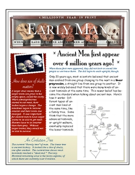 Early Man: Skull Size Matters by Don Nelson