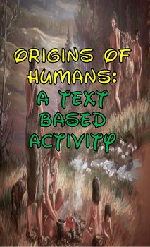 Early Man: Text Based Activity