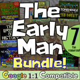 Early Humans Unit Bundle! 8 fun resources for Stone Age, Neanderthals, Early Man