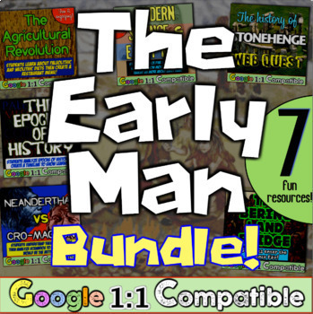 Early Man Unit Bundle! 6 fun resources for Stone Age, Nean