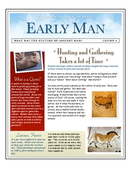 Early Man: What Does it take to Hunt & Gather by Don Nelson