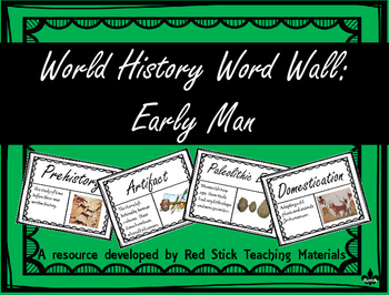 Early Man Word Wall