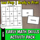 Early Math Skills Activity Packet