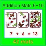 Addition Mats 6-10 Math Center