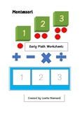 Montessori Early Math - Counting and Writing Practice - Numbers 1 to 9