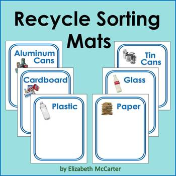 Recycle Sorting Mats Earth Day Activity