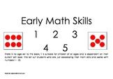 Early Math Skills Book