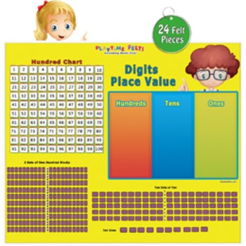 Early Math Skills: Digits Place Value & Hundred Chart Activity Set