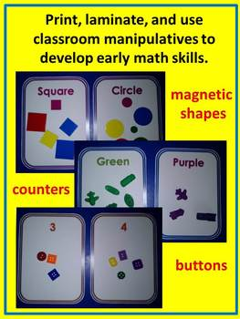 Sorting and Counting Mats (colors, shapes, counting to 10) Math Centers