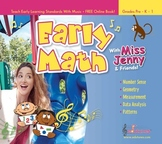 Pre-K Math Songs - Hard Copy Version (CD)