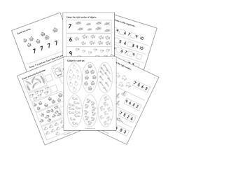 early maths worksheets numbers   for reception ukkprek