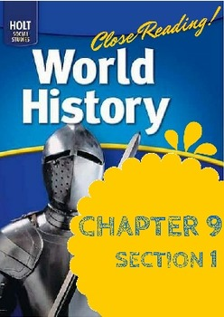 """Middle Ages Holt World History Ch. 9 Sec. 1 """"The Geography"""