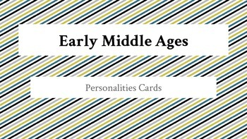 Early Middle Ages Historical People Card Activities