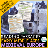 Early Middle Ages Medieval Europe Reading Passages - Questions - Annotations