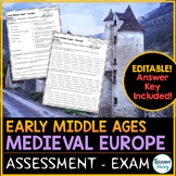 Early Middle Ages Medieval Europe Test - Exam