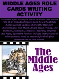 Middle Ages Role Cards Writing Activity