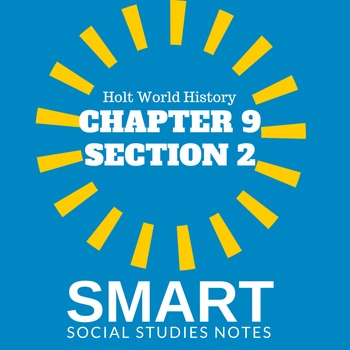Middle Ages SMART Cornell notes Holt World History Test CH. 9 Sec. 2
