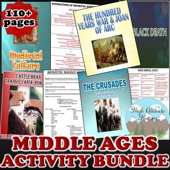 Middle Ages Activity *Bundle* (World History) Early to Hig