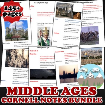 Middle Ages Cornell Notes *Bundle* (World History) Early to High Middle Ages