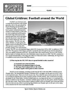 Early NFL History Worksheets