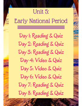 Early National Period Flipped Learning