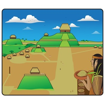 Native American Mound Builders Clip Art Set