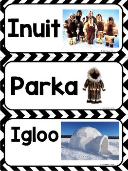 Early Native Americans Word Wall Cards- Aligned to 3rd Grade GSE