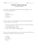 Native Americans and Colonies Quiz: NC Social Studies 4.H.
