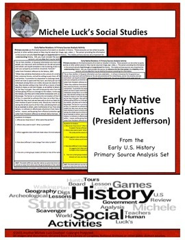 Early Native Policy w/ Jefferson American Document Analysis Activity