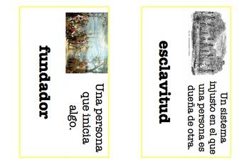 Social Studies (Three Worlds Meet Unit 2) Vocabulary Words -Spanish