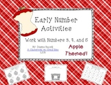 Early Number Activities {Working with Numbers 3, 4, 5}